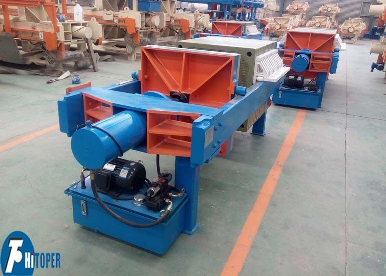 High Pressure Membrane Filter Press Machine , Clay / Sludge Dewatering Equipment