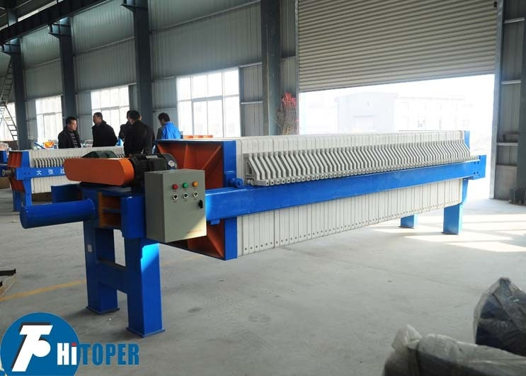 Electric Motor Driven Mechanical Filter Press For Sludge Solid Liquid Separation